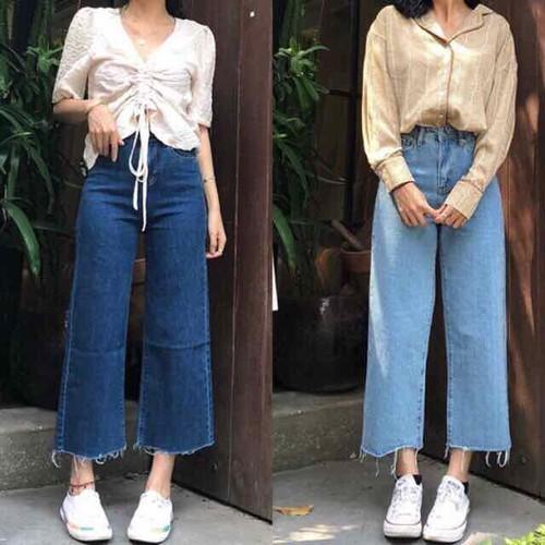 Quần jeans ống rộng culottes - 7156054 , 17038605 , 15_17038605 , 195000 , Quan-jeans-ong-rong-culottes-15_17038605 , sendo.vn , Quần jeans ống rộng culottes
