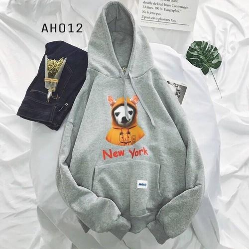 Áo hoodie nỉ nón bạn Cún New York- HD102