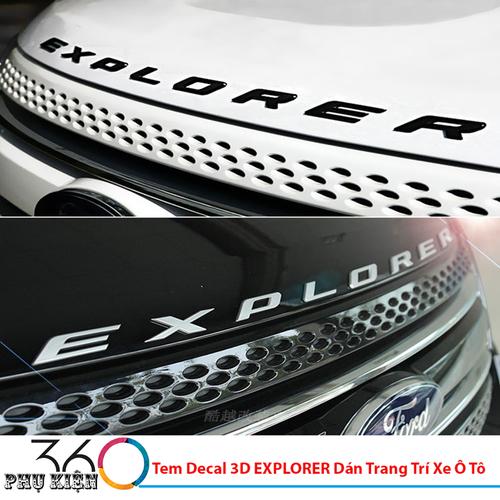 Tem Decal 3D EXPLORER Dán Trang Trí Xe Ô Tô - 7144120 , 17030937 , 15_17030937 , 239000 , Tem-Decal-3D-EXPLORER-Dan-Trang-Tri-Xe-O-To-15_17030937 , sendo.vn , Tem Decal 3D EXPLORER Dán Trang Trí Xe Ô Tô