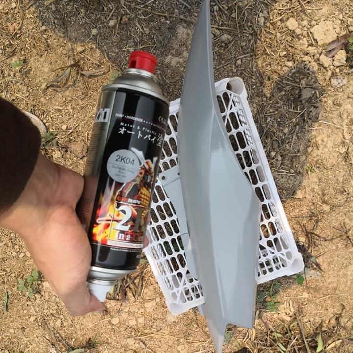 2K04 _ Chai Sơn Xịt Sơn Xe Máy Samurai 2K04 sơn lót xám _  Expoxy Surfacer lót  2 thành phần siêu bền  5