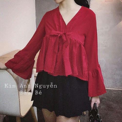 Áo voan nữ đỏ xinh