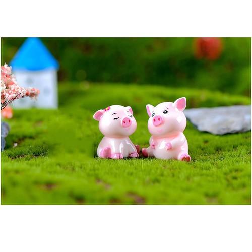 Lợn hồng - Phụ kiện trang trí tiểu cảnh, tượng mini, tượng con vật, để bàn