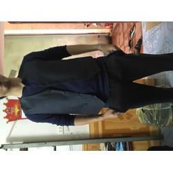 áo ghi le đẹp nam kết hợp vest