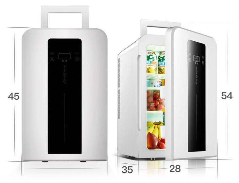 Tủ lạnh mini 22L EuroQuality ô tô và nhà -3 độ 12v 220v Màn hình Led - 1