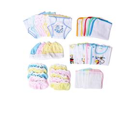 Đồ sơ sinh - Combo 50 món tron gói cho bé( 5 áo tay ngắn, 10 tã, 5 nón, 10 bao tay, 10 bao chân, 5 lót, 5 khăn - 50mon