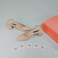 M24-329 Giày Sục Vintage Hàn Quốc - Size 37 Kem