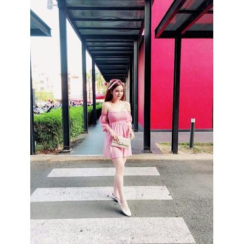 Áo voan nữ hồng sexy