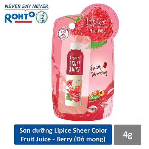 Son dưỡng chiết xuất trái cây Lipice Sheer Color Fruit Juice Berry 4g