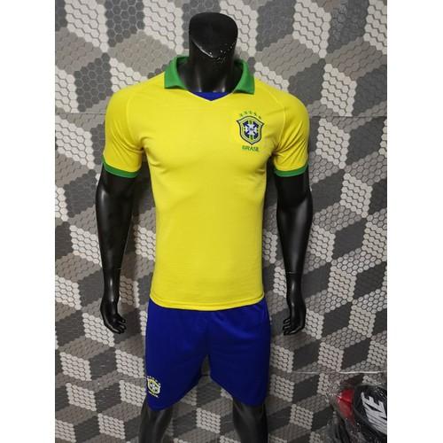 Bộ quần áo bóng đá Brazil 2019 vàng sân nhà