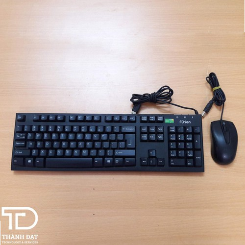 Bàn phím chuột Fuhlen cũ chơi game - Bàn phím chuột cũ chơi game cổng USB