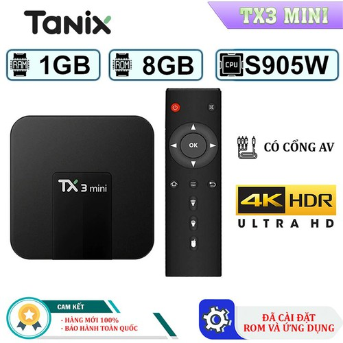 Android TV Box Tanix TX3 Mini - Rom ATV, Ram 1GB Cấu Hình Siêu Khủng