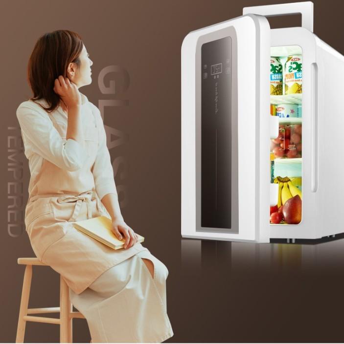 Tủ lạnh mini 22L EuroQuality ô tô và nhà -3 độ 12v 220v Màn hình Led - 2