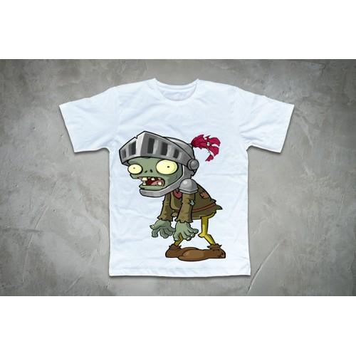 Áo thun in hình Zombie đội mũ vệ binh