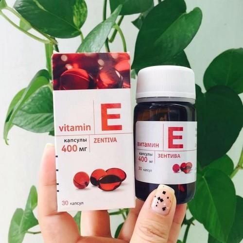 Vitamin E Đỏ Của Nga 400mg - Hàng Xách Tay Nga - Vitamin E Đỏ Của Nga