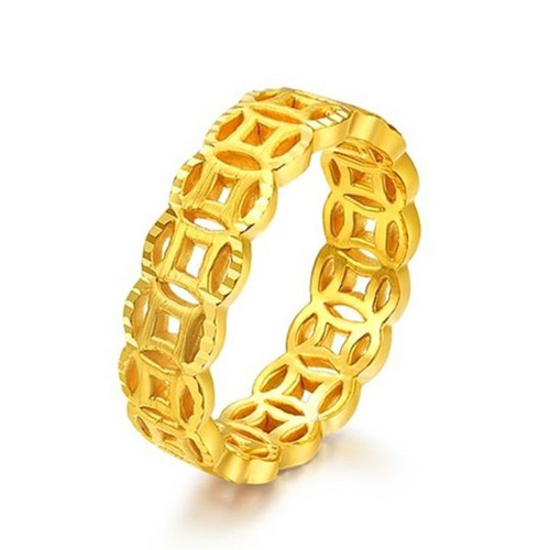 Nhẫn Kim Tiền vàng - Trang Sức Hava Hồng K ông