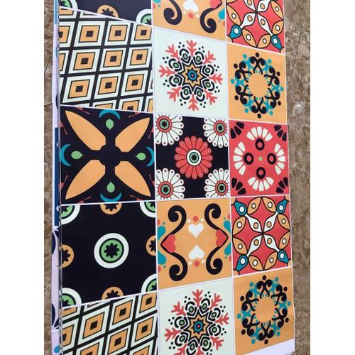 decal gạch bông dán tường trang trí sét 30 ô