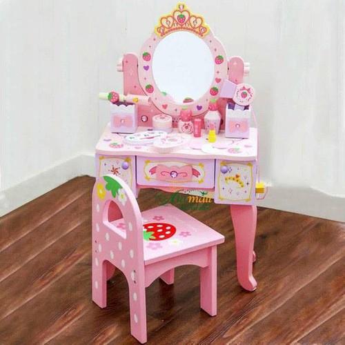 Bộ đồ chơi bàn trang điểm cho bé gái đồ chơi bằng gỗ tự nhiên an toàn cho bé, có ảnh thật - 7210036 , 17065610 , 15_17065610 , 2490000 , Bo-do-choi-ban-trang-diem-cho-be-gai-do-choi-bang-go-tu-nhien-an-toan-cho-be-co-anh-that-15_17065610 , sendo.vn , Bộ đồ chơi bàn trang điểm cho bé gái đồ chơi bằng gỗ tự nhiên an toàn cho bé, có ảnh thật