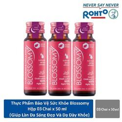 Thực phẩm chứng năng giúp da sáng đẹp và dạ dày khỏe Blossomy lốc 03 chai * 50ml