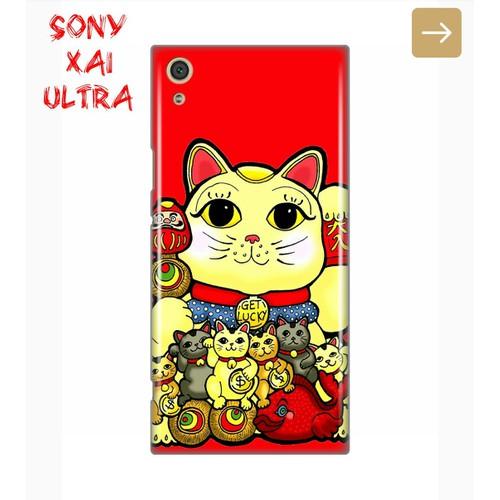 Ốp Lưng Sony XA1 Ultra Mèo Thần Tài 2019 8 Màu