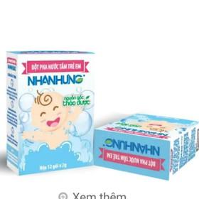 Bột pha nước tắm trẻ em Nhân Hưng hộp 12 gói 2g - tắm NHung12