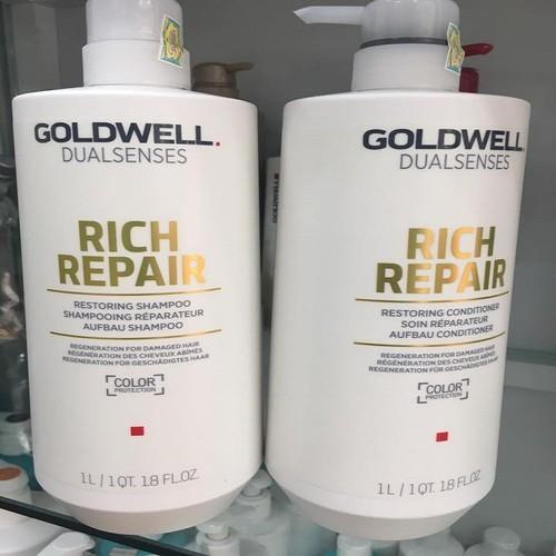 Cặp Gội Xả Goldwell Siêu Chữa Trị Tóc Dualsenses Rich 1000ml