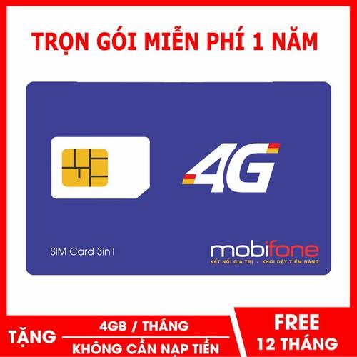 SIM 3G 4G TRỌN GÓI CẢ NĂM - SIM 4G MOBIFONE