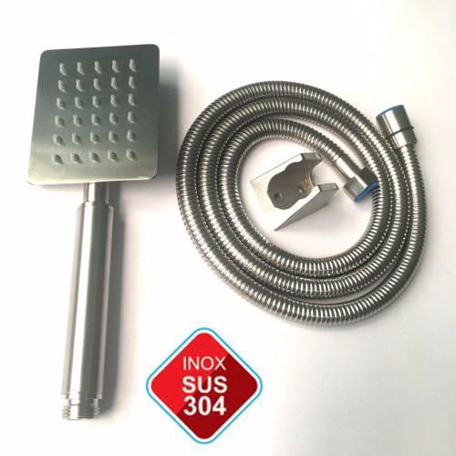 Bộ dây và tay sen tắm tăng áp inox SUS 304 TS-01