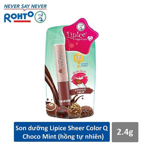 Son dưỡng Lipice Sheer Color Q Choco Mint 2.4g