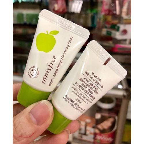 [MINI SIZE 10ml] Sữa Rửa Mặt Chiết Xuất Táo Innisfree Apple Seed Deep Cleansing Foam
