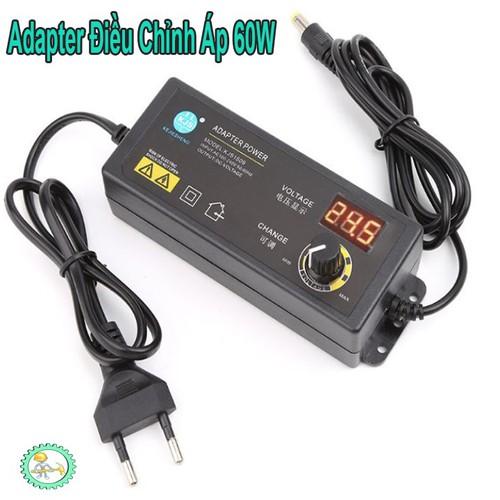 Bộ Adapter Có LCD Hiển Thị  3~24VDC 2.5A 60W KJS-1509  Điều Chỉnh Chỉnh Áp 3~24VDC 2.5A 60W