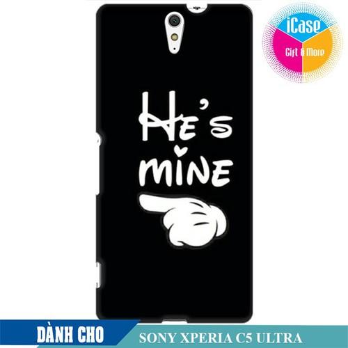 Ốp lưng nhựa dẻo dành cho Sony C5 Ultra in hình He is Mine