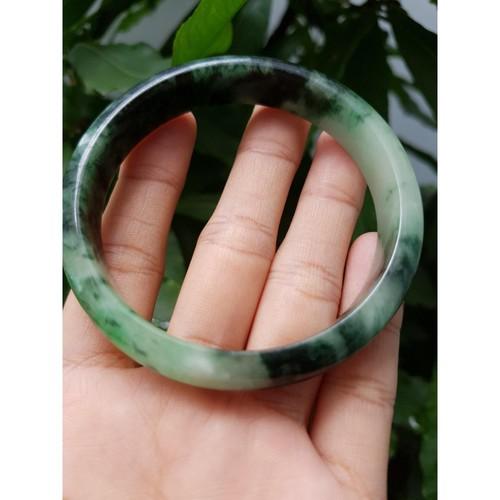 Vòng tay ngọc sơn thủy size 58mm, cao 12.5mm - xưởng buôn đá phong thủy Huỳnh Đào