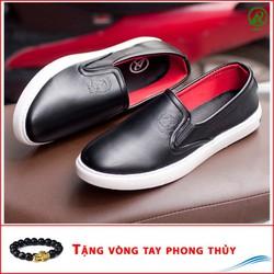 Giày Slip On Nam Aroti Đế Khâu Chắc Chắn Phong Cách Đơn Giản Màu Đen - M498-DEN-030319