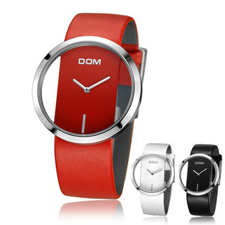 Đồng hồ thời trang nữ size lớn 42mm mặt kính xuyên thấu cá tính - DOM fullbox - Mã số DH1901 - Đồng hồ DH1901 thumbnail