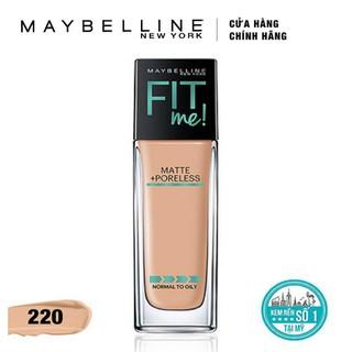 Kem Nền Mịn Lì Tự Nhiên Maybelline Fit Me - Màu 220 Natural Beige 30ml - 397 thumbnail