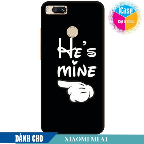 Ốp lưng nhựa dẻo dành cho Xiaomi A1 in hình He is Mine