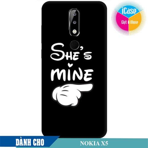 Ốp lưng nhựa dẻo dành cho Nokia X5 in hình She is Mine