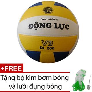 Quả bóng chuyền Động Lực 3 màu DL200 + Tặng bộ kim bơm bóng và lưới đựng bóng - DL200G87 thumbnail
