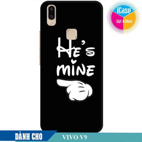 Ốp lưng nhựa dẻo dành cho Vivo V9 in hình He is Mine
