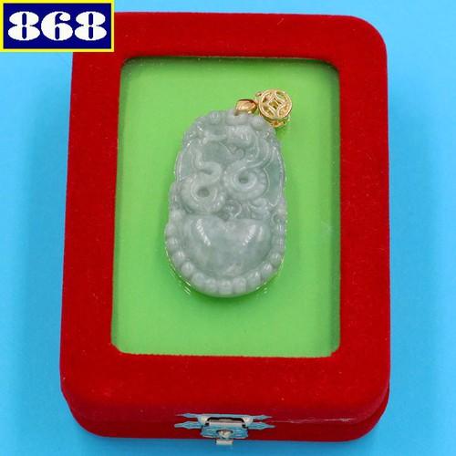 Mặt dây chuyền tuổi Tỵ cẩm thạch MCGCTX9 hộp nhung