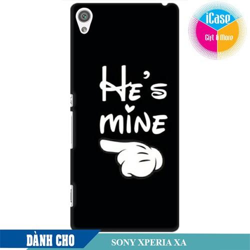 Ốp lưng nhựa dẻo dành cho Sony XA in hình He is Mine