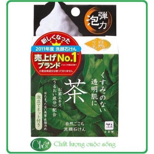 Xà phòng sữa  rửa mặt cowtea soap Nhật Bản