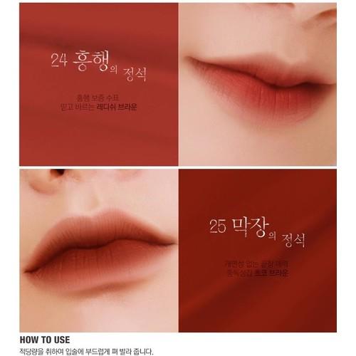 Son Kem Bbia màu 24 Last Velvet Lip Tint  - tông màu nâu đỏ