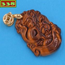 Mặt dây chuyền khắc linh vật tuổi thân đá mắt hổ MMHCG7