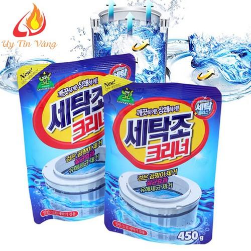 Combo 5 Gói Bột Tẩy Lòng Máy Giặt 450Gr Hàn Quốc - 7245913 , 17084542 , 15_17084542 , 120000 , Combo-5-Goi-Bot-Tay-Long-May-Giat-450Gr-Han-Quoc-15_17084542 , sendo.vn , Combo 5 Gói Bột Tẩy Lòng Máy Giặt 450Gr Hàn Quốc