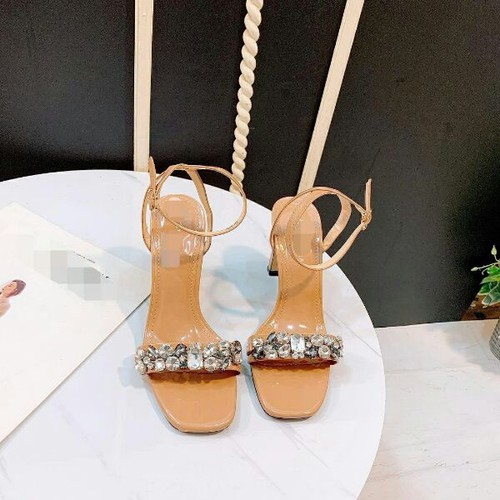 Giày sandal cao gót quai đá