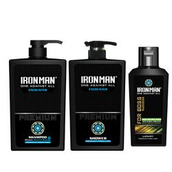 Combo Dầu gội sữa tắm nhiệt Ironman Encounter 650g+ Dung dịch vệ sinh nam Tinh chất thảo dược Ironman for Boss 120g