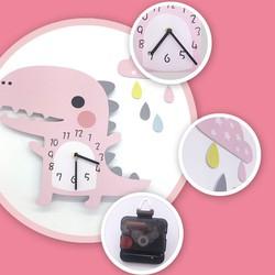 Đồng hồ trang trí  khủng long - Đồng hồ trang trí cute