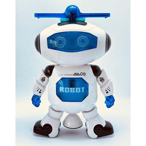 Robot thông minh xoay 360 độ cảm biến né vật cản không sợ ngã có nhạc vui nhộn cho bé chơi tại nhà