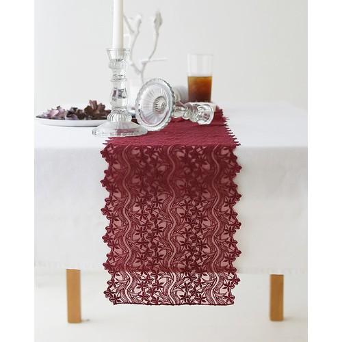 Khăn trang trí bàn ăn cao cấp Burgundy dành cho bàn 4 người